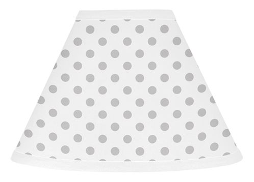 Grey and White Polka Dot Lamp Shade for Watercolor Floral Collection by Sweet Jojo Designs - Click to enlarge