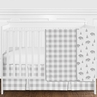 Grey and White Rustic Country Buffalo Plaid Check Baby Boy or Girl Gender Neutral Crib Bedding Set without Bumper by Sweet Jojo Designs - 4 pieces