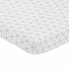Grey and White Triangle Baby Fitted Mini Portable Crib Sheet for Mod Jungle Collection by Sweet Jojo Designs