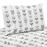 Grey and White Twin Sheet Set for Woodland Arrow Collection by Sweet Jojo Designs - 3 piece set
