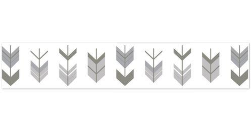 Grey and White Wallpaper Wall Border for Woodland Arrow Collection by Sweet Jojo Designs - Click to enlarge