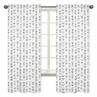 Grey and White Window Treatment Panels Curtains for Woodland Arrow Collection by Sweet Jojo Designs - Set of 2