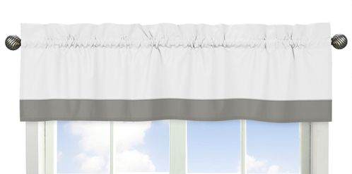 Grey and White Window Treatment Valance for Woodsy Collection by Sweet Jojo Designs - Click to enlarge