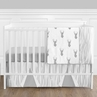 Grey and White Woodland Deer Baby Bedding - 4pc Boys Crib Set by Sweet Jojo Designs