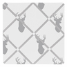 Grey and White Woodland Deer Fabric Memory/Memo Photo Bulletin Board by Sweet Jojo Designs