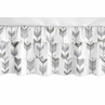 Grey and White Woodland Girl Ruffled Tiered Baby Crib Bed Skirt Dust Ruffle for Mod Arrow Collection by Sweet Jojo Designs