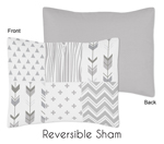 Grey and White Woodland Standard Pillow Sham for Woodsy Collection by Sweet Jojo Designs