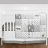 Grey and White Woodsy Deer Boy, Girl, Unisex Baby Crib Bedding Set without Bumper by Sweet Jojo Designs - 11 pieces