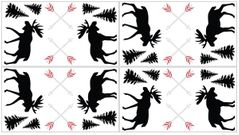 Grey, Black and Red Woodland Moose and Arrow Peel and Stick Wall Decal Stickers Art Nursery Decor for Rustic Patch Collection by Sweet Jojo Designs - Set of 4 Sheets