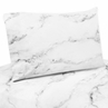 Grey, Black and White Marble Collection - King Sheet Set by Sweet Jojo Designs
