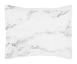 Grey, Black and White Marble Pillow Sham by Sweet Jojo Designs