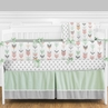 Grey, Coral and Mint Woodland Arrow Baby Bedding - 9pc Crib Set by Sweet Jojo Designs