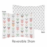 Grey, Coral and Mint Woodland Arrow Pillow Sham by Sweet Jojo Designs by Sweet Jojo Designs