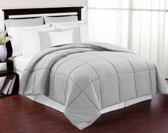 Grey Down-Alternative Comforter<br> Available in Queen Size
