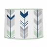 Grey, Navy Blue and Mint Woodland Arrow Lamp Shade by Sweet Jojo Designs