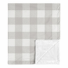 Grey Plaid Baby Boy Girl Receiving Security Swaddle Blanket for Newborn or Toddler Nursery Car Seat Stroller Soft Minky by Sweet Jojo Designs - Gray Rustic Woodland Buffalo Check Flannel Country Lumberjack