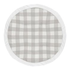 Grey Plaid Boy Girl Baby Playmat Tummy Time Infant Play Mat by Sweet Jojo Designs - Gray Rustic Woodland Buffalo Check Flannel Country Lumberjack