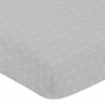 Grey Triangle Baby or Toddler Fitted Crib Sheet for Mountains Collection by Sweet Jojo Designs