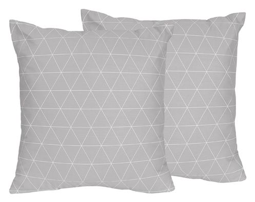 Grey Triangle Decorative Accent Throw Pillows for Mountains Collection by Sweet Jojo Designs - Set of 2 - Click to enlarge