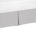 Grey Triangle Pleated Toddler Bed Skirt Dust Ruffle for Mountains Collection by Sweet Jojo Designs