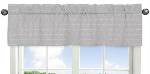 Grey Triangle Window Treatment Valance for Mountains Collection by Sweet Jojo Designs - Click to enlarge