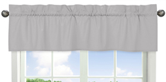 Grey Window Valance by Sweet Jojo Designs