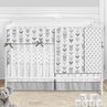 Grey Woodland Arrow Baby Boy or Girl Nursery Crib Bedding Set by Sweet Jojo Designs - 5 pieces - Mod Gray and White