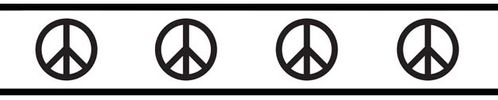 Groovy Peace Sign Baby and Kids Wall Border by Sweet Jojo Designs - Click to enlarge
