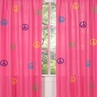 Groovy Peace Sign Window Treatment Panels - Set of 2