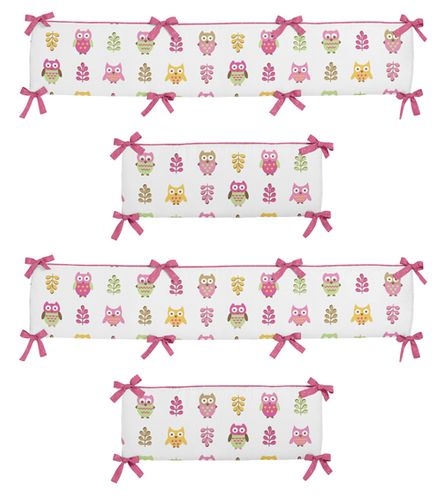 Happy Owl Collection Crib Bumper by Sweet Jojo Designs - Click to enlarge