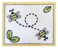Honey Bee Accent Floor Rug by Sweet Jojo Designs
