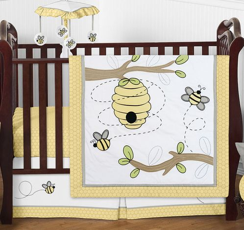 Honey Bee Baby Bedding - 4pc Crib Set by Sweet Jojo Designs - Click to enlarge