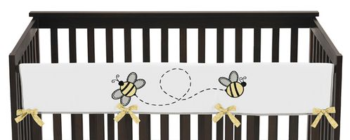 Honey Bee Baby Crib Long Rail Guard Cover by Sweet Jojo Designs - Click to enlarge