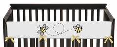 Honey Bee Baby Crib Long Rail Guard Cover by Sweet Jojo Designs