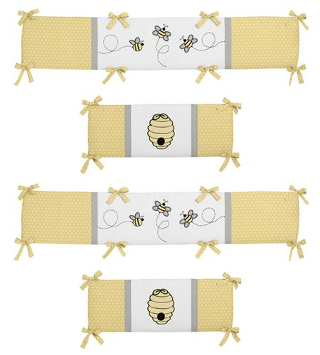 Honey Bee Collection Crib Bumper by Sweet Jojo Designs - Click to enlarge