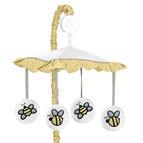Honey Bee Musical Baby Crib Mobile by Sweet Jojo Designs - Click to enlarge