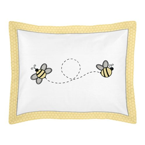 Honey Bee Pillow Sham by Sweet Jojo Designs - Click to enlarge