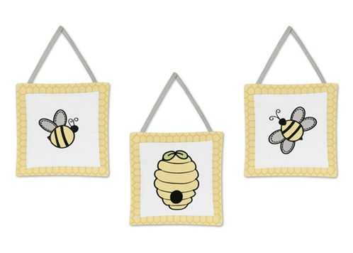 Honey Bee Wall Hanging Accessories by Sweet Jojo Designs - Click to enlarge