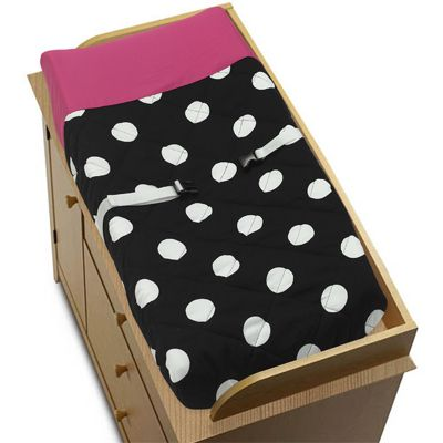 Hot Dot Baby Changing Pad Cover by Sweet Jojo Designs - Click to enlarge