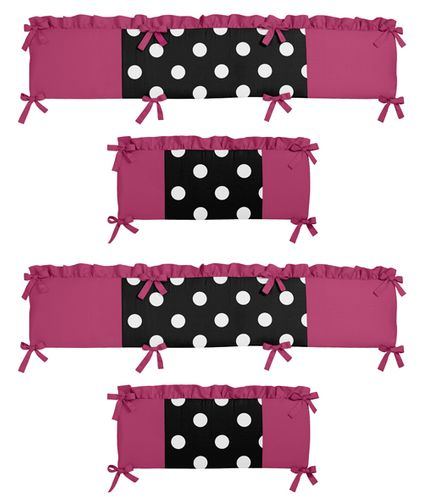 Hot Dot Collection Crib Bumper by Sweet Jojo Designs - Click to enlarge