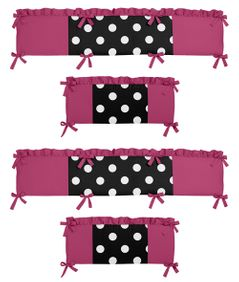 Hot Dot Collection Crib Bumper by Sweet Jojo Designs