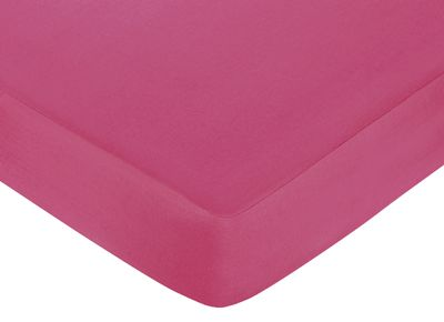 Hot Dot Fitted Crib Sheet for Baby/Toddler Bedding by Sweet Jojo Designs - Pink - Click to enlarge