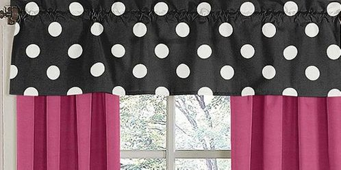 Hot Dot Modern Window Valance by Sweet Jojo Designs - Click to enlarge