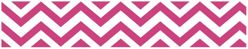 Hot Pink and White Chevron Zig Zag Kids and Baby Modern Wall Paper Border - Click to enlarge