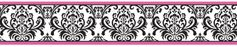 Hot Pink, Black and White Isabella Baby and Kids Wall Border by Sweet Jojo Designs
