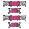Hot Pink, Black and White Isabella Collection Crib Bumper by Sweet Jojo Designs