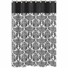 Hot Pink, Black and White Isabella Kids Bathroom Fabric Bath Shower Curtain