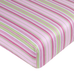 Jungle Friends Fitted Crib Sheet for Baby/Toddler Bedding Sets - Stripe Print