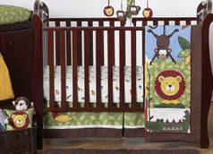 Jungle Time Baby Bedding - 11pc Crib Set