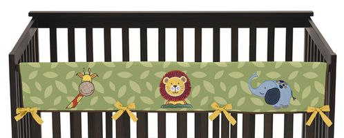 Jungle Time Baby Crib Long Rail Guard Cover by Sweet Jojo Designs - Click to enlarge